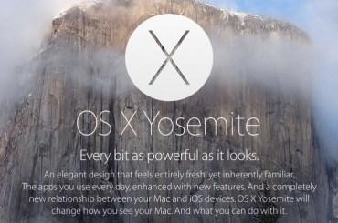 Mac OS X - Yosemite