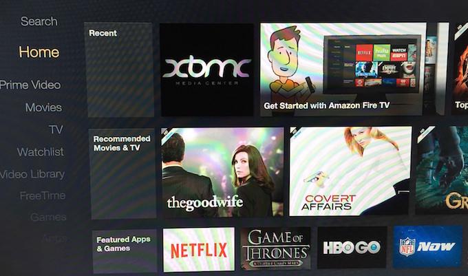 Amazon Fire TV - XMBC Installed