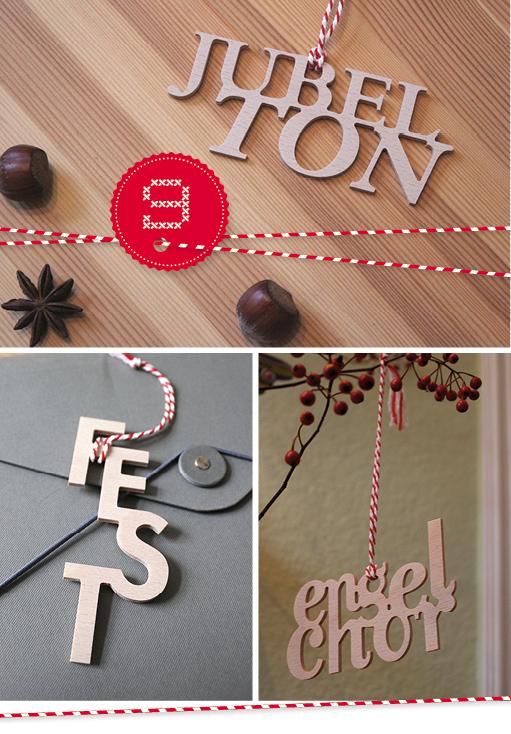 Typo-Weihnachtsschmuck