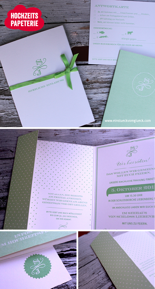 klassische Hochzeitseinladung