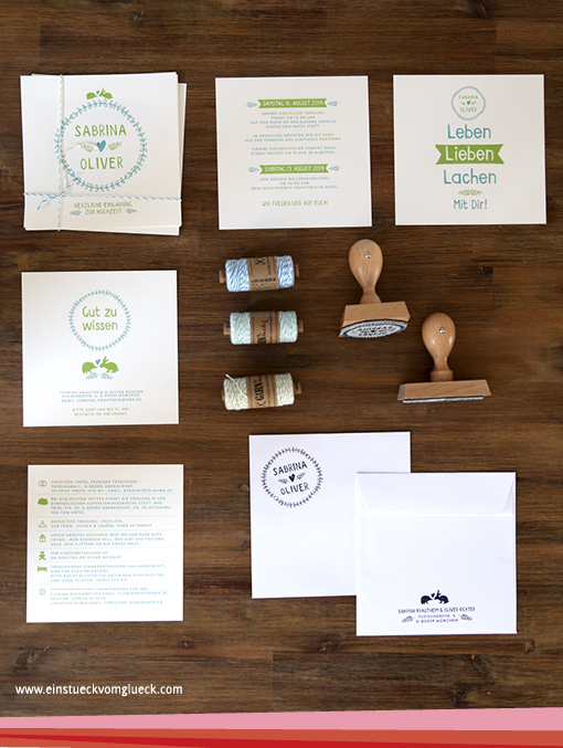 Hochzeit einzelne Karten