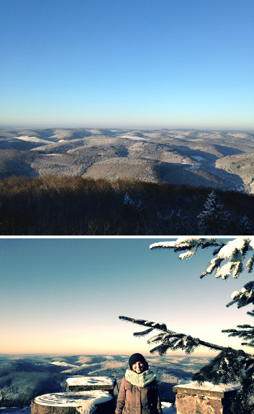 Odenwald, Katzenbuckel, Winterzeit