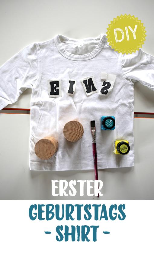 DIY Shirt, erster Geburtstag