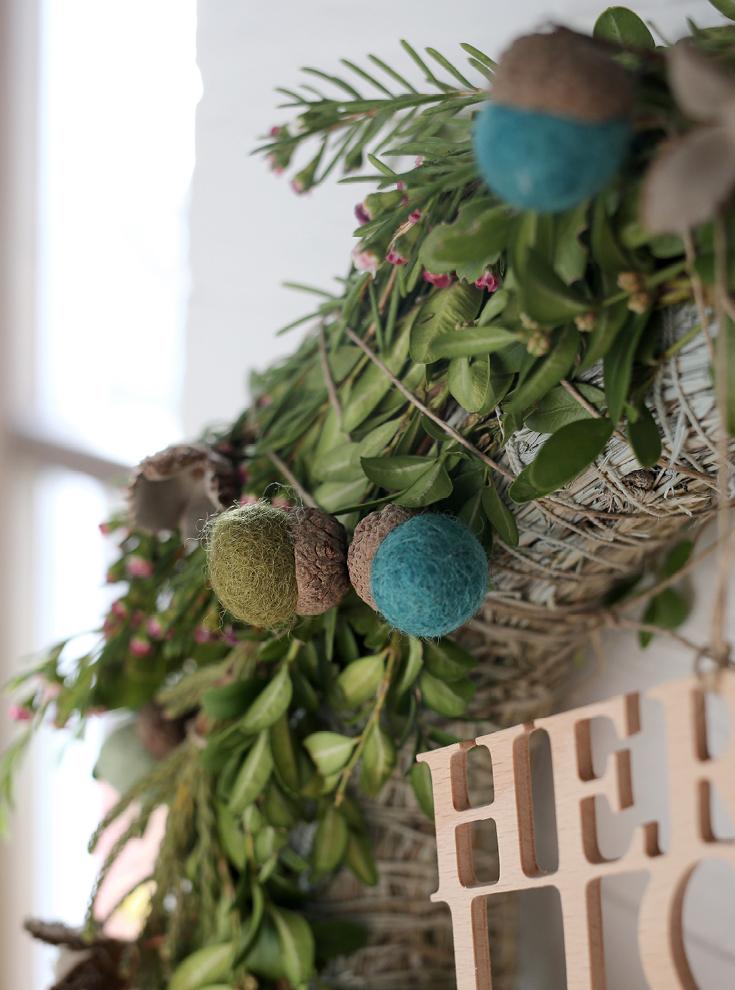 Weihnachtskranz, Adventskranz, Filz