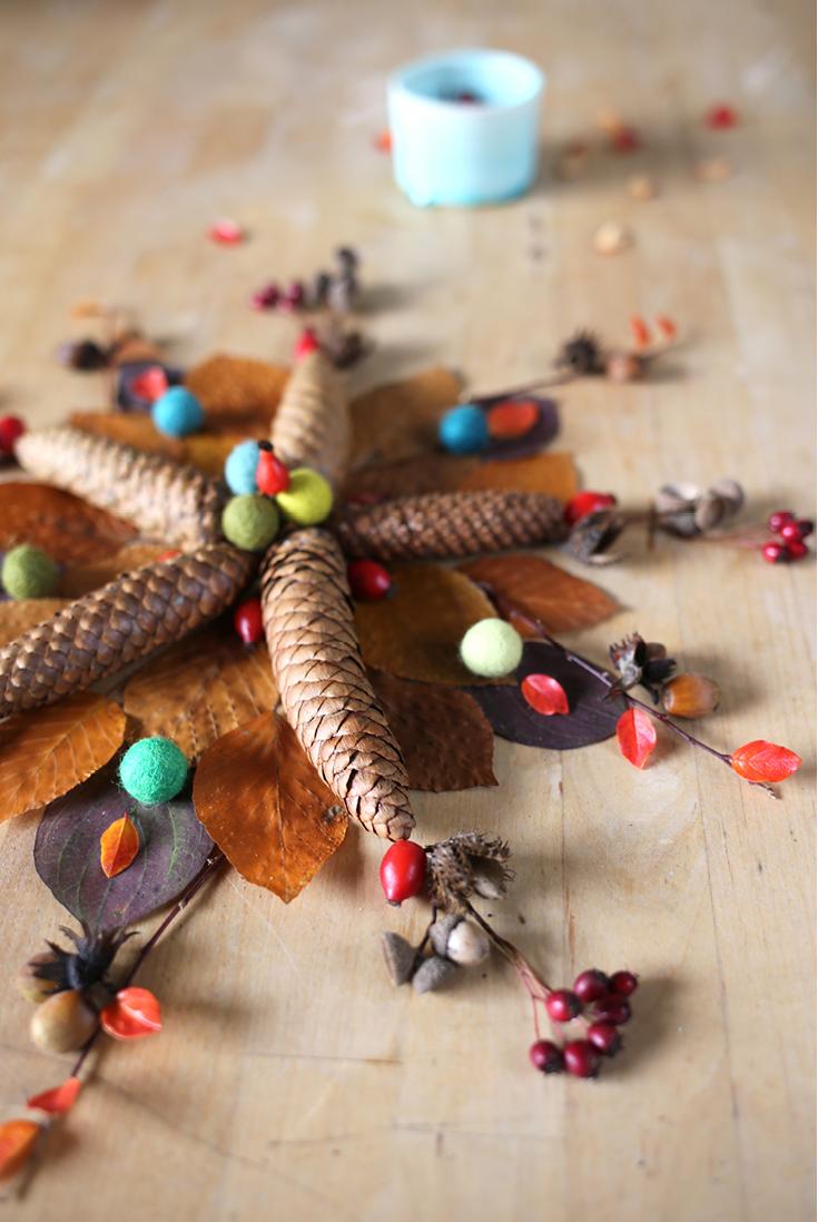 Achtsamkeit, Herbstmandala, DIY, Mindful Crafting