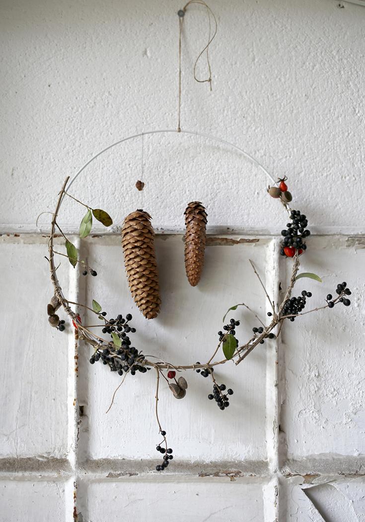 Herbstkranz, Adventskranz, Floristik, Achtsamkeit, DIY, selbermachen