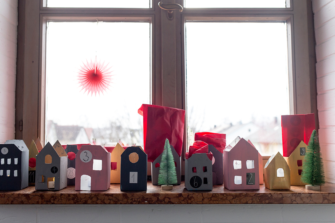 DIY: Adventskalender-Häuser  aus Tetra Paks