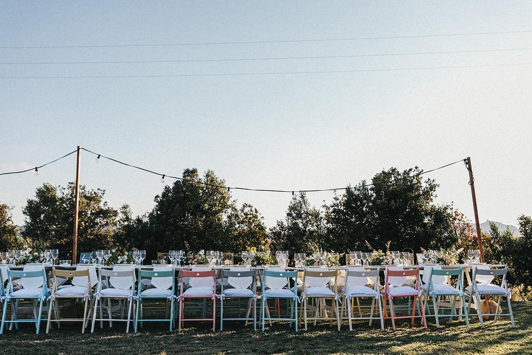 Hochzeitstafel Toskana, Hochzeitsfeier Italien