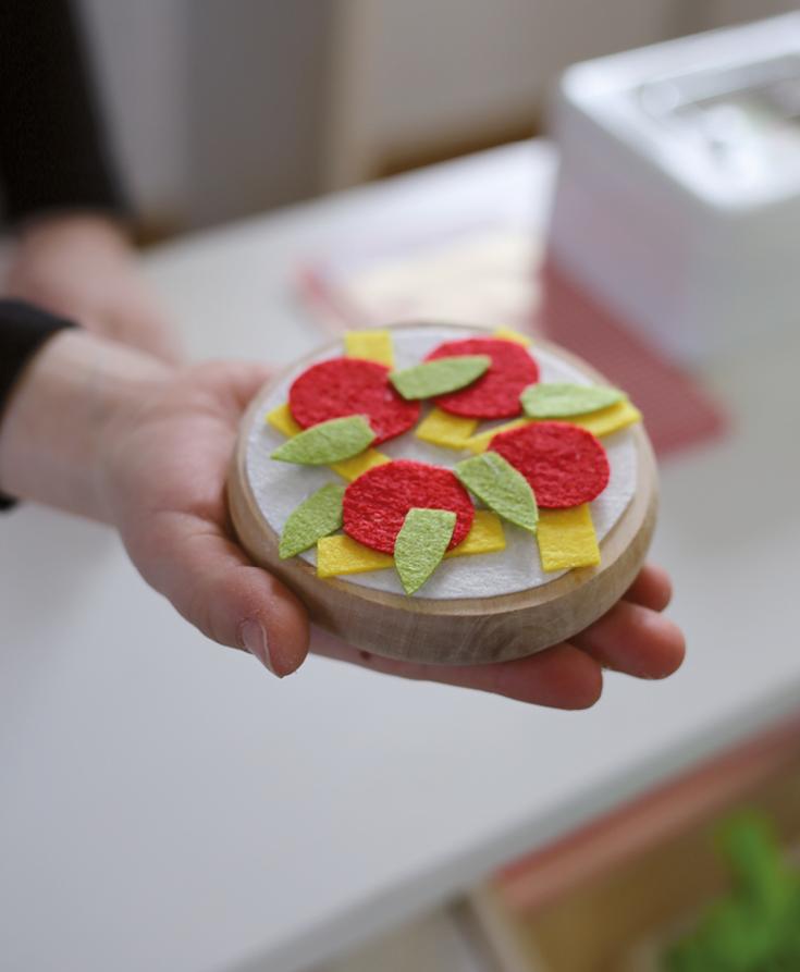 Pizza DIY für Kinderküche oder Kaufladen