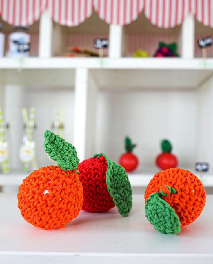 DIY Häkelobst für Kaufladen oder Kinderküche
