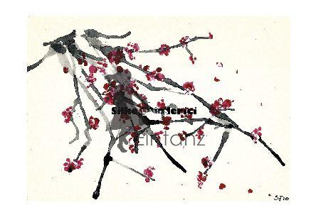 Wasserzeichen_Acryl Kirschblüten am Zweig I 04-20