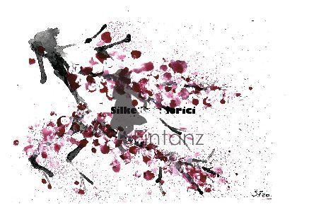 Wasserzeichen_Acryl Kirschblüten am Zweig II 04-20