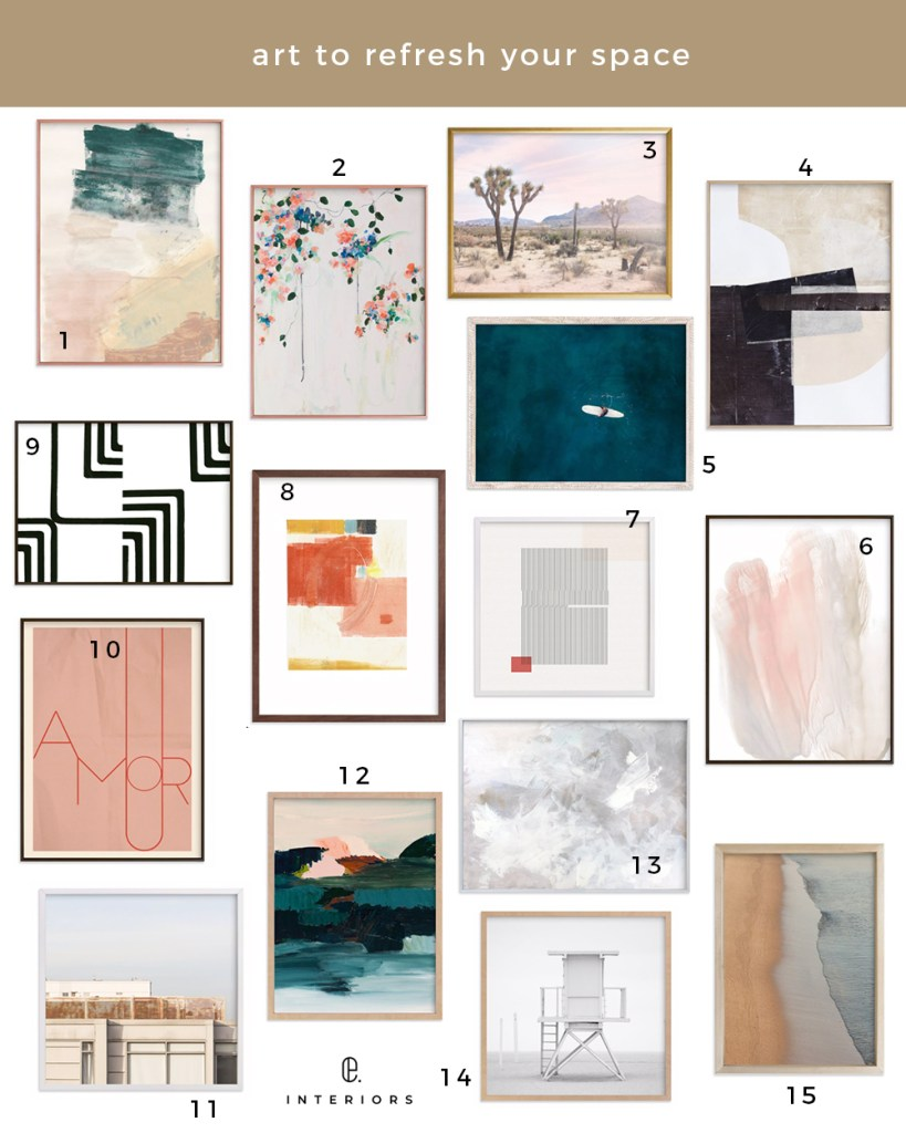 Best Wall Art featured by top US interior deisgner E.INTERIORS