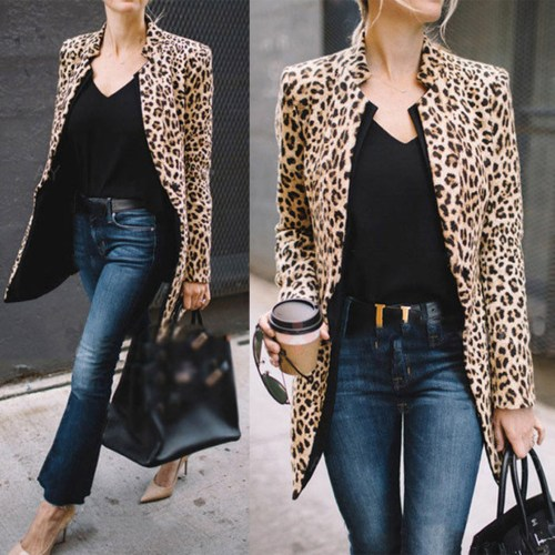 WALMART WINTER FASHION by popular style blog E. Interiors: image of a woman wearing a leopard print overcoat from Walmart.