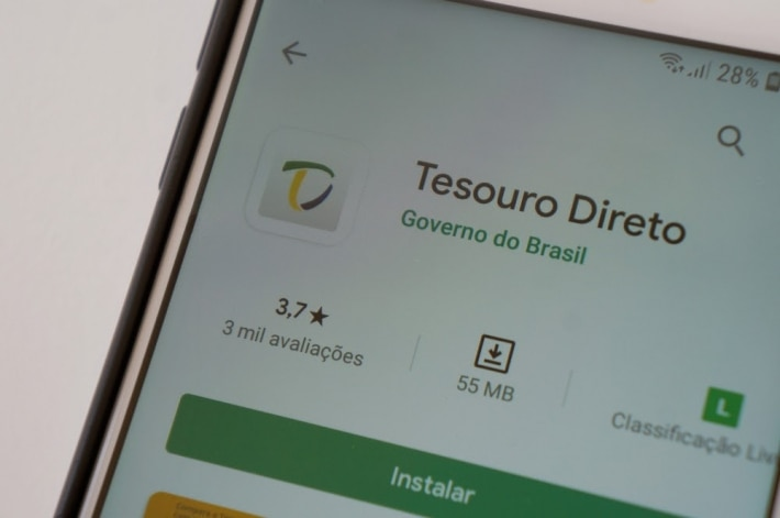 Mobile displays Treasure Direct application on PlayStore