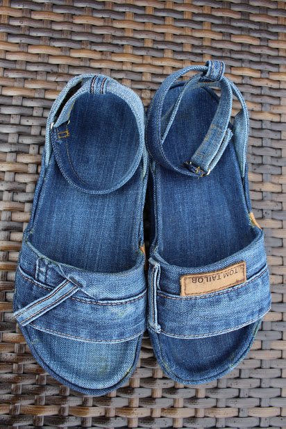 upcycling jeansschuhe selber machen einzelding. Black Bedroom Furniture Sets. Home Design Ideas