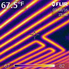 Radiant ceiling heat