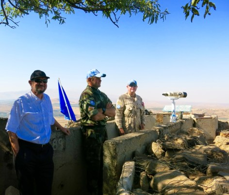 MEP Boris Zala and Blue Helmets Soldiers