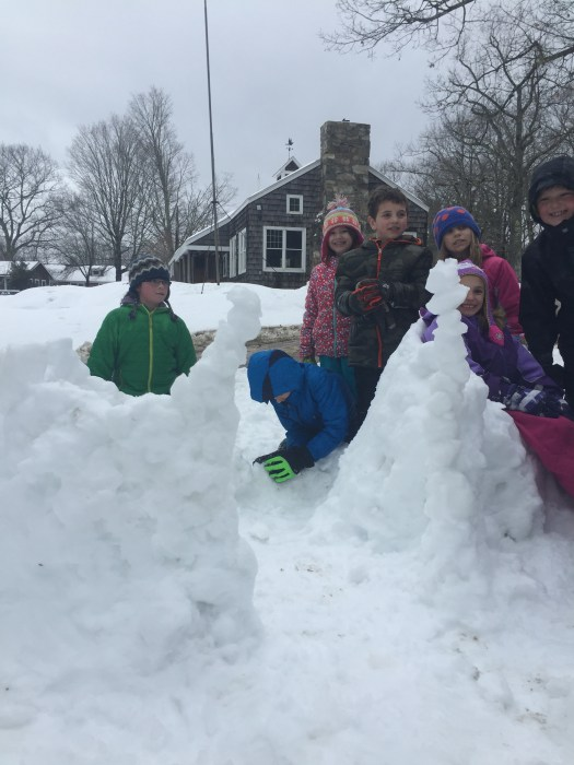 An amazing snow fort