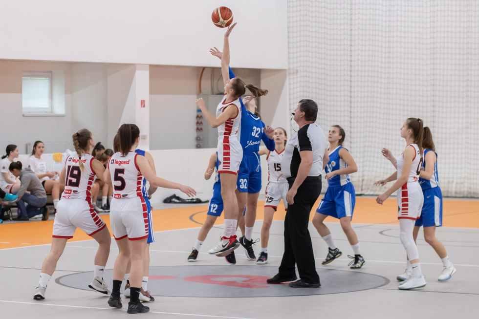 photo of women playing basketball