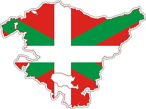 Basque Country Map & Flag