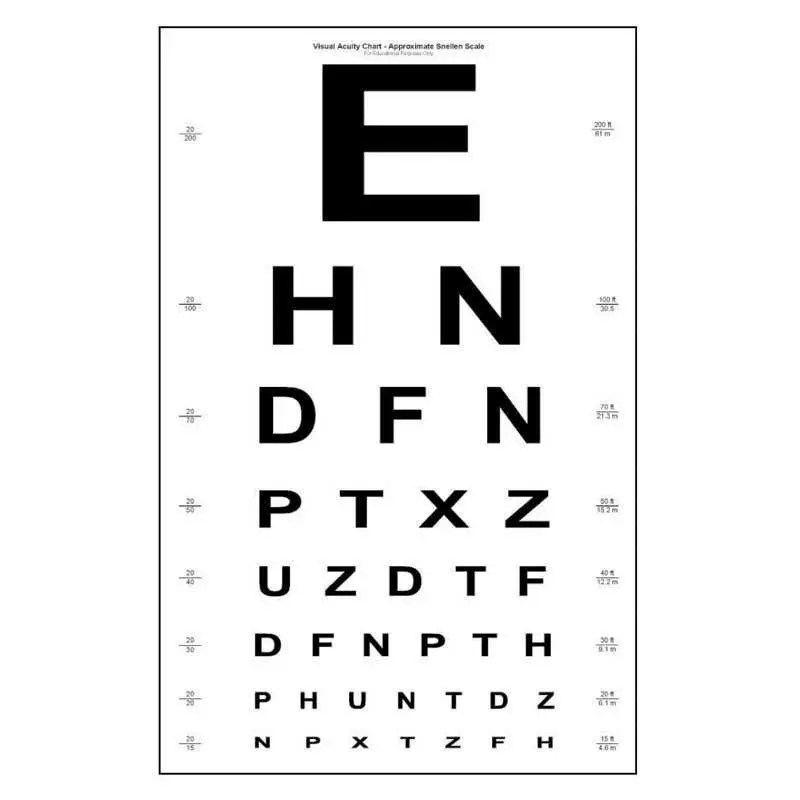 Medical Eye test chart