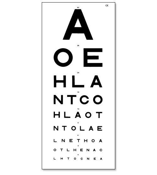 Medical Eye test chart