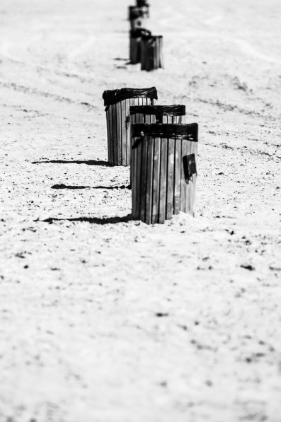 Bins on Tarifa Beach