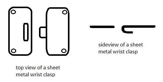 sheet metal wrist clasp