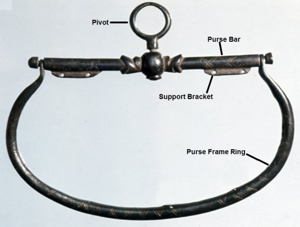 typical purse frame Parts