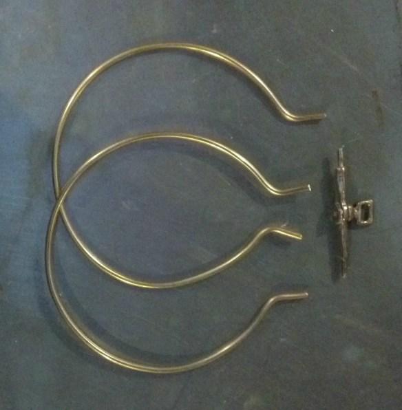 freshly bent wire rings