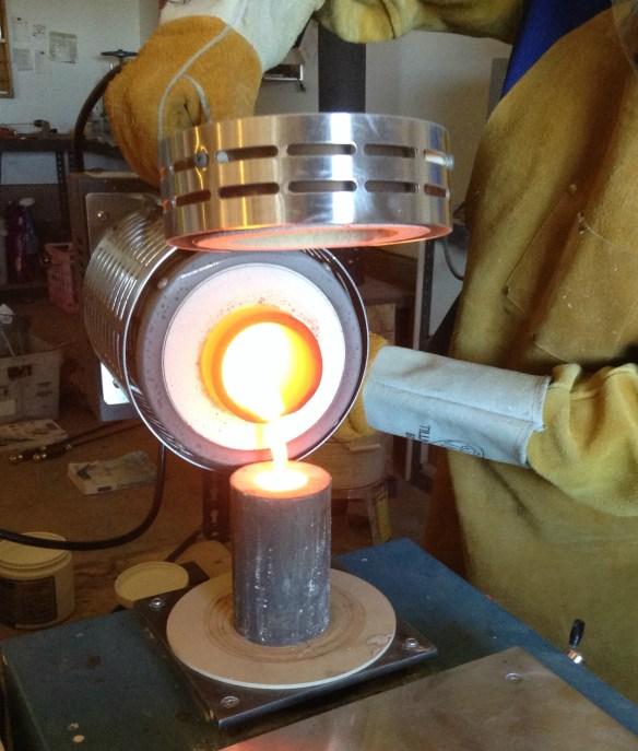 big furnace pour