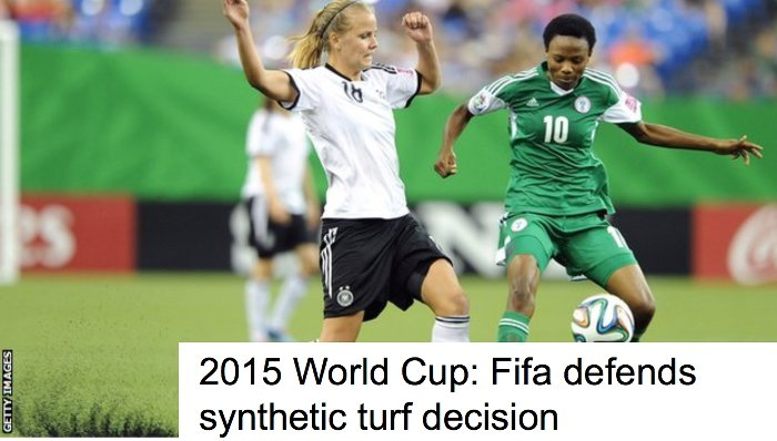 FIFA defends synthetic turf decision BBC 2014.09.11