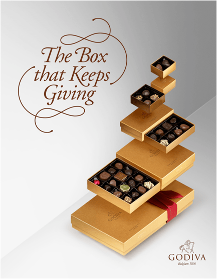 Godiva's Box that Keeps Giving. Holidays 2016