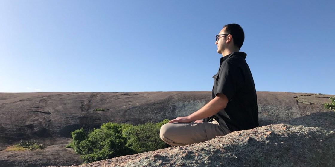 Here's me at Enchanted Rock meditating on a better way to beat the odds at the startup lottery.