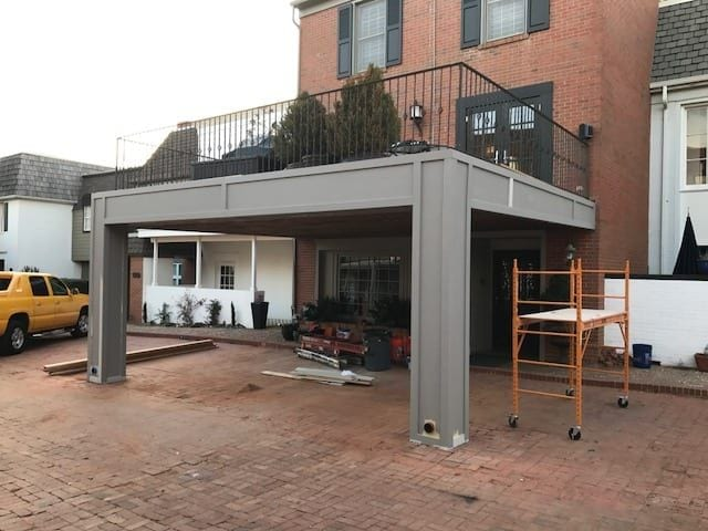 Deck and Covered Parking - After