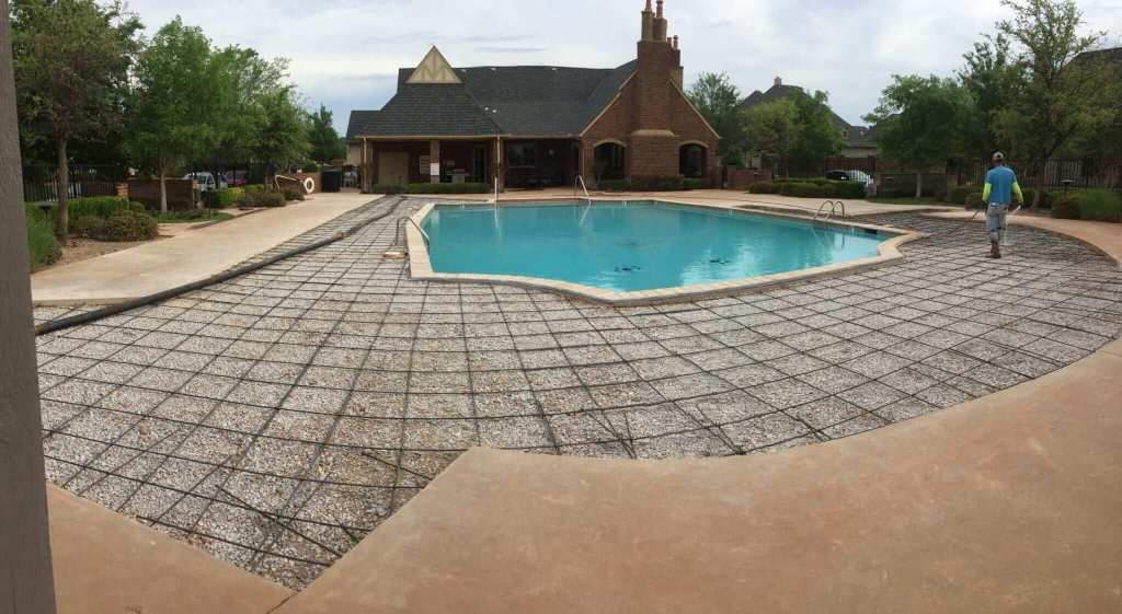 Concrete for commercial & residential neighborhood pool.