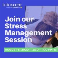 2020 Student Success Webinar - Stress Mgmt