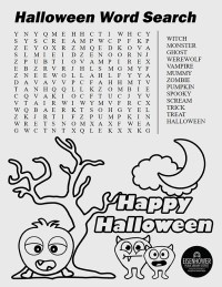 Halloween Word Search Printable Page