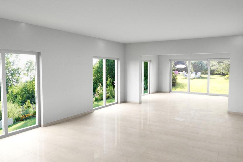 DesignIdee CADPlanung fr ein Wohnzimmer mit hellem