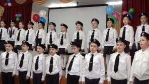 Казачата школы №18 г. Приморско-Ахтарска и подготовили праздничный концерт