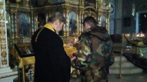 """Кадеты военно-патриотического центра """"Звезда"""" приняли участие в богослужении"""