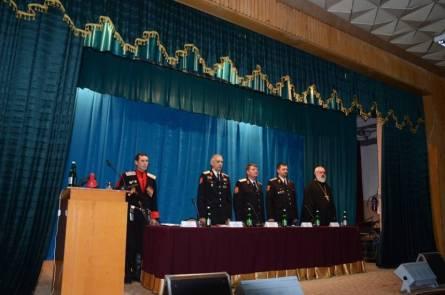 Благочинный Староминского округа церквей принял участие в отчетном сборе районного казачьего общества