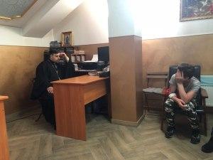В станице Старощербиновской состоялась очередная встреча молодежи со священником