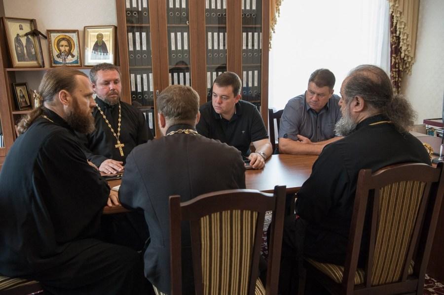 Состоялась рабочая встреча правящего архиерея Ейской епархии с главой муниципального образования Ейский район