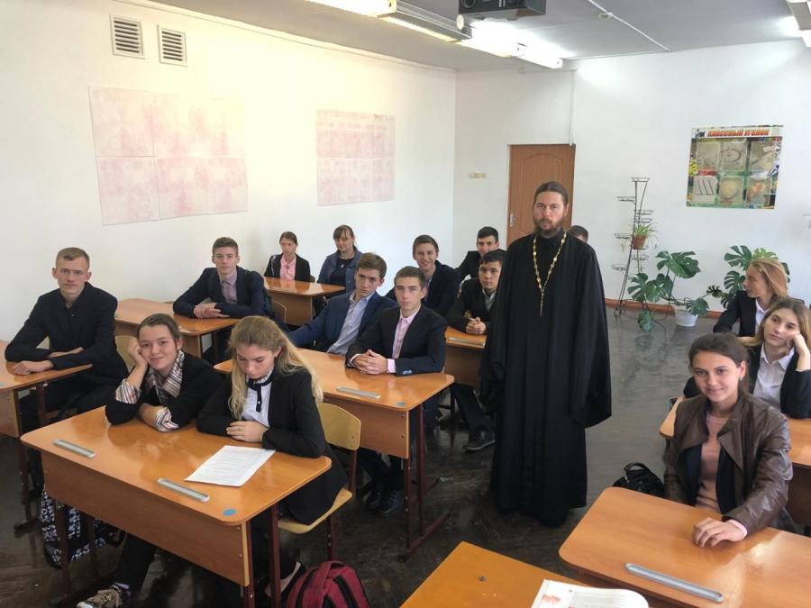 Внеклассное занятие с десятым классом в ст. Новоплатнировской