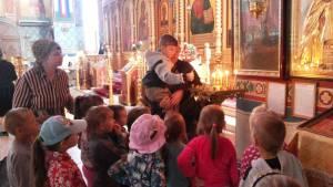 Экскурсия в храм Трех Святителей дошколят