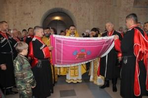 Знамя каневских казаков освящено в старинном храме