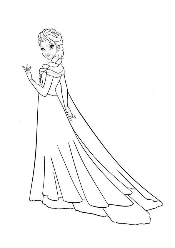 Ausmalbilder Eiskönigin