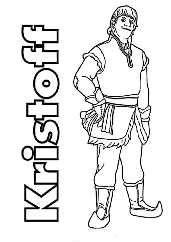 Kristoff-1 Ausmalbilder Eiskönigin